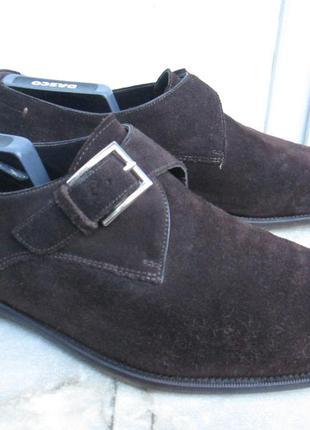 "Замшевые туфли монки  "" mаssimo dutti ""   44р. ( 29.5 см )."