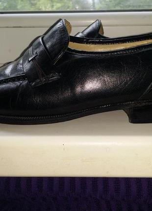 Черные мужские туфли бельгийские лоферы clarks натуральная кожа