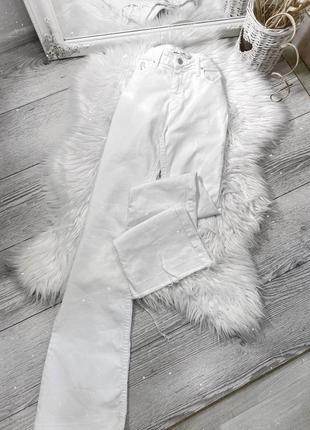Белые джинсы клёш