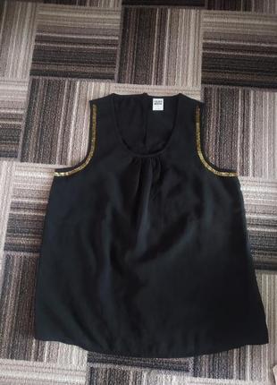 Шифоновая блузка блуза топ с бисером м