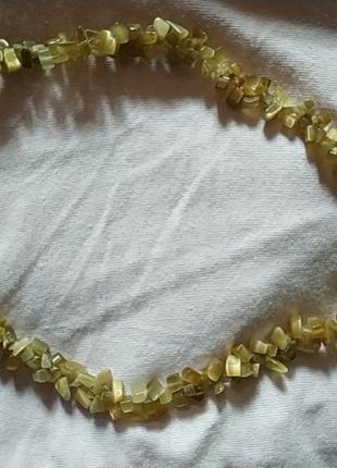 Колье ожерелье из натурального камня