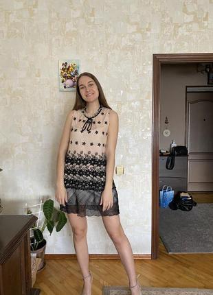 Короткое нарядное платье miu miu
