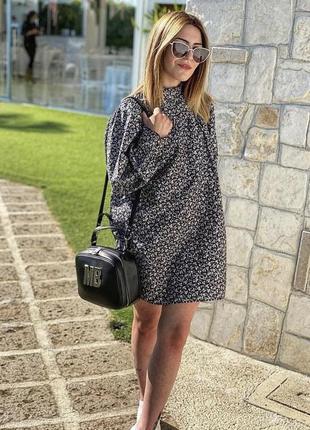 Стильное поплиновое платье zara