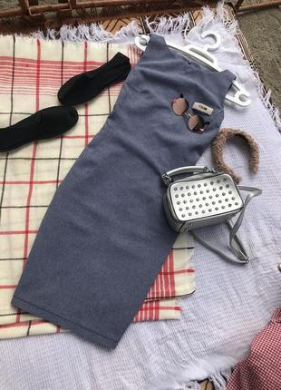 Трендовий сарафан міді комбез платье миди плаття платє актуальне літо
