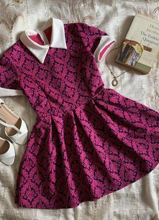 Платье коктейльное handmade babydoll мини розовое