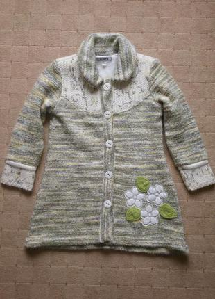 Кардиган-пальто 6-7лет