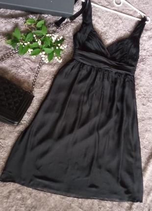 Черное коктейльное платье zara
