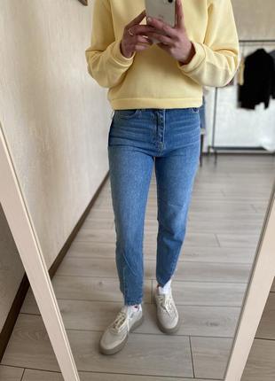 Дуже стильні світлі джинси мом, очень стильные светлые джинсы мом ціна 🔥