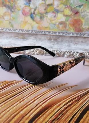 Эксклюзивные чёрные брендовые солнцезащитные очки 20213 фото