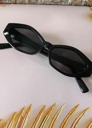 Эксклюзивные чёрные брендовые солнцезащитные очки 20214 фото