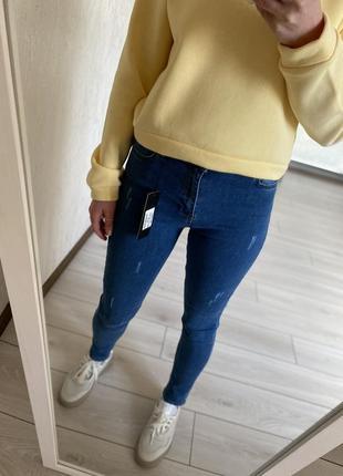 Сині вузькі джинси скінні, синие узкие джинсы скинни