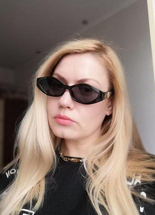 Эксклюзивные чёрные брендовые солнцезащитные очки 2021