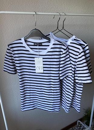 Полосаті футболки в розмірі s від zara❤️