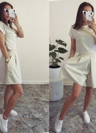 Костюм юбка-шорты +топ🔥🌸