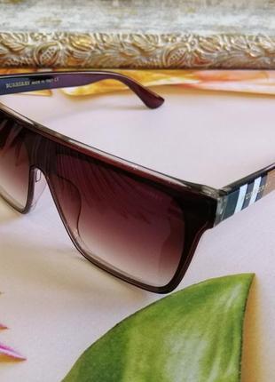 Эксклюзивные коричневые брендовые солнцезащитные очки