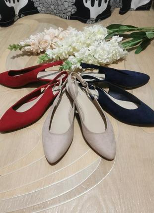 Красивые летние туфельки, босоножки, мюли. новые. удобные. синие, красные, пыльная роза