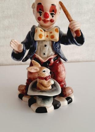 Фарфоровый клоун, гном, статуэтка, фигурка