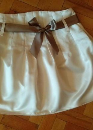 Гламурная юбочка высокая талия