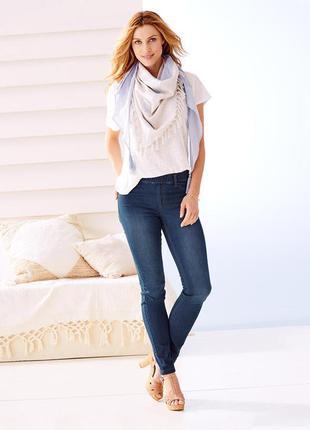 Стильные узкие джинсы треггинсы tchibo разм.34  евро,наш 40