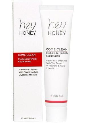 Скраб для лица hey honey come clean! facial scrub