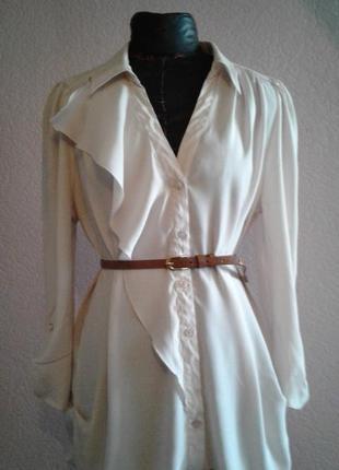Рубашка платье цвет пудры
