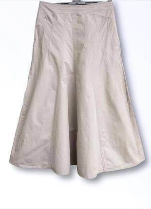 Нюдовая юбка из натуральной ткани papaya