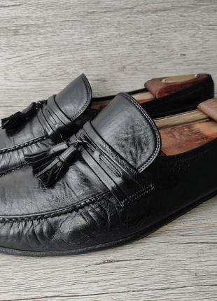 Bally 43.5p туфли мужские лоферы кожа швейцария