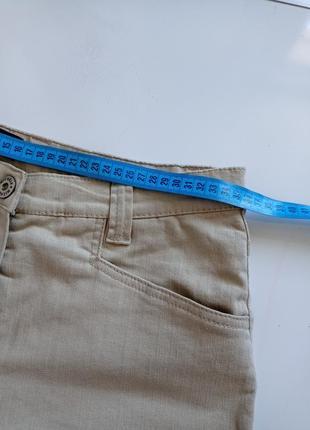 Бежевые джинсы брюки прямые с высокой посадкой3 фото