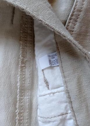 Бежевые джинсы брюки прямые с высокой посадкой2 фото