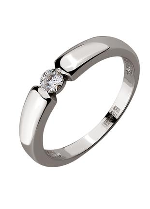 Золотое кольцо с бриллиантом 0.10 карат.
