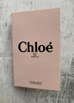 Пробник парфюмированной воды chloe eau de parfum
