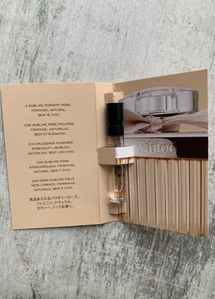Пробник парфюмированной воды chloe eau de parfum2 фото