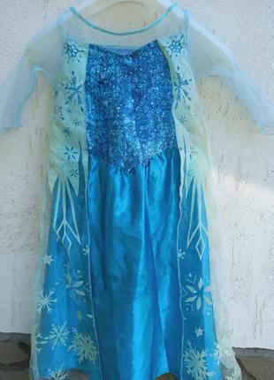 Платье эльза и перчатки