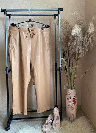 Primark 20 штаны в спортивном стиле  кож зам