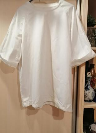 Блузка белая хлопок