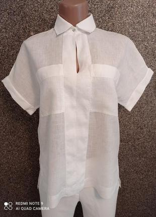 Льняная рубашка massimo dutti