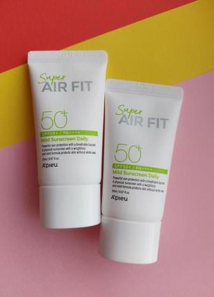 Солнцезащитный крем мини a´pieu super air fit mild sunscreen daily spf50