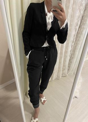 Пиджак жакет чёрный  укороченый