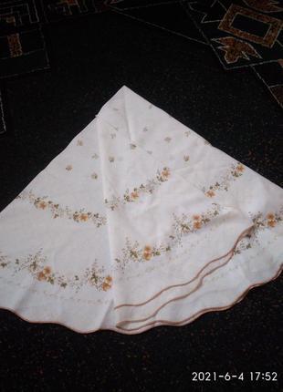 Шикарная качественная скатерть в цветочный принт