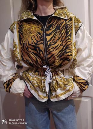 Куртка винтаж в стиле versace 80-e