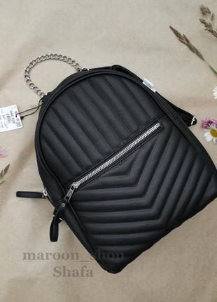 Рюкзак черный стеганный 50% скидка