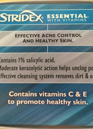 Stridex acne control без спирта диски от акне,постакне, прыщей, воспалений и пр.3 фото