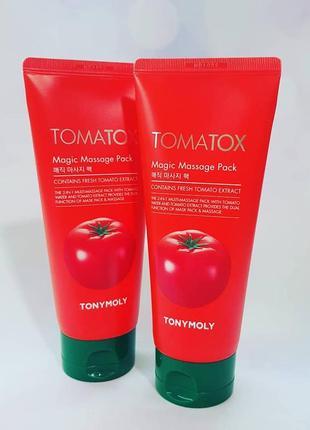Осветляющая маска для лица с томатом tony moly tomatox