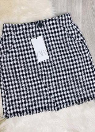 Чёрно-белая мини-юбка zara