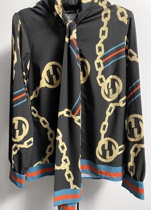 Блуза с галстуком бантом