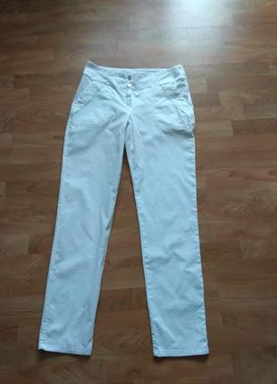 Білі брюки/чіноси caroline biss (бельгія), р. 38 (м) на високий ріст.