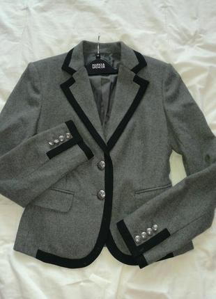 Пиджак с контрастной отделкой