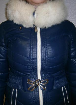 Очень теплая куртка на зиму с мехом кролика