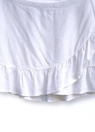 Стильна юбка с воланом лён + вискоза next