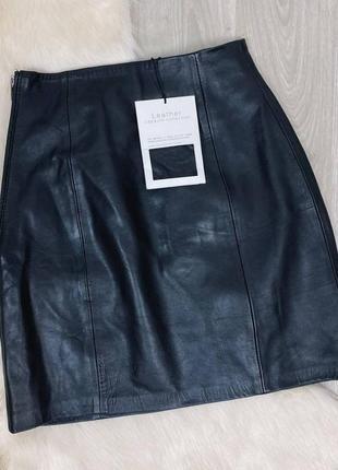 Кожаная мини-юбка zara